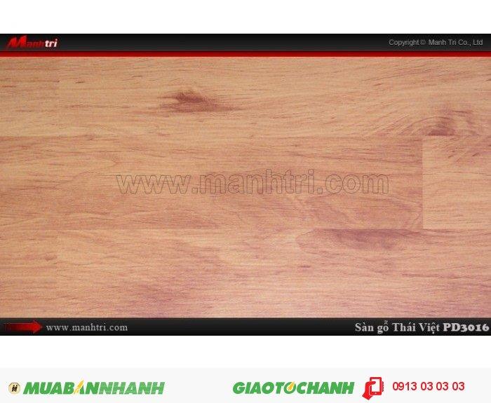 Sàn gỗ công nghiệp Thái Việt PD 3061, dày 8mm, chịu nước, chống trầy, độ bền cao; Xuất xứ: Thái Lan; Quy cách: 1205 x 192 x 8mm; Chống trầy AC4; Giá: 209.000 đồng, 1