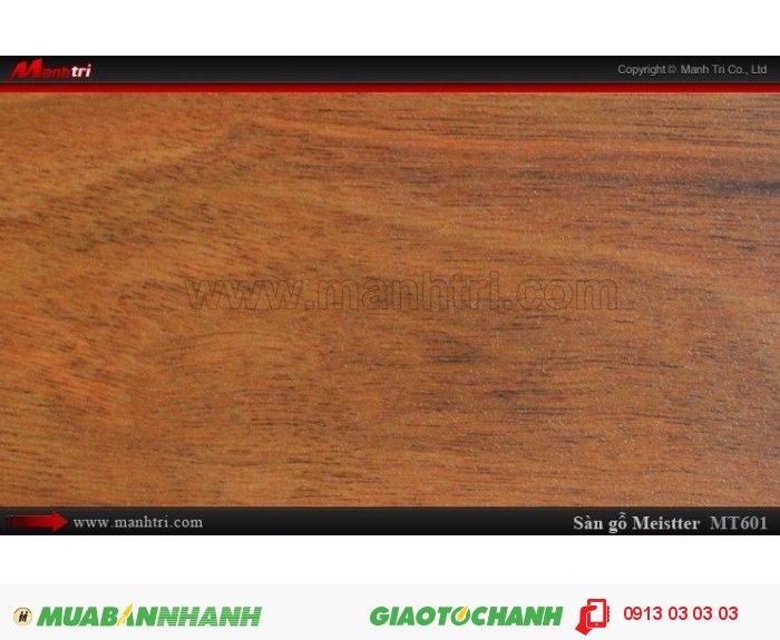 Sàn gỗ công nghiệp Meistter MT601; Qui cách: 808 x 130 x 12mm; Chống trầy: AC4; Ứng dụng: Thi công lắp đặt làm sàn gỗ nội thất trong nhà, phòng khách, phòng ngủ, phòng ăn, showroom, trung tâm thương mại, shopping, sàn thi đấu. Giá: 209.000VND, 2