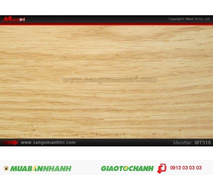 Sàn gỗ công nghiệp Meistter MT518; Qui cách: 808 x 127 x 8.3mm; Chống trầy: AC4; Ứng dụng: Thi công lắp đặt làm sàn gỗ nội thất trong nhà, phòng khách, phòng ngủ, phòng ăn, showroom, trung tâm thương mại, shopping, sàn thi đấu. Giá: 189.000VND, 5