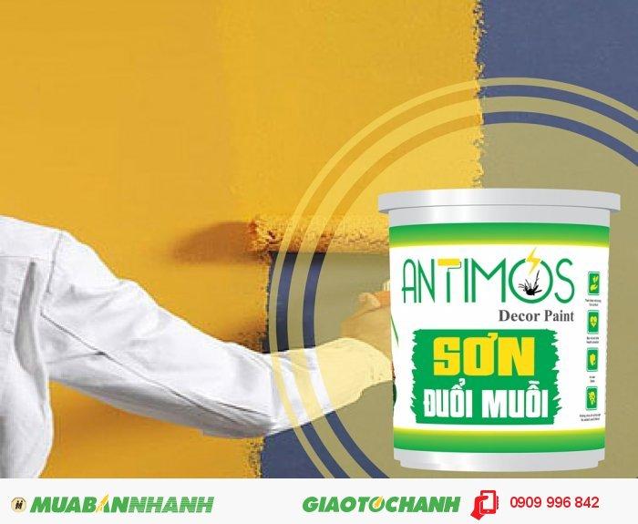 Sơn màu đuổi muỗi Antimos | Quy cách: 1000ml | Giá: 250.000đ | Mô tả: Dùng để sơn lại căn nhà, hoặc cho công trình đang xây dựng.., 4