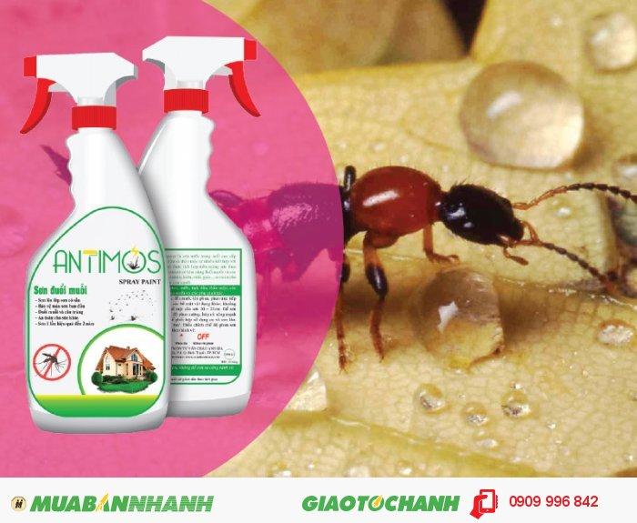 Sơn trong đuổi muỗi Antimos | Quy cách: 600ml | Giá: 200.000đ | Mô tả: Sơn Antimos đuổi muỗi, côn trùng đặc biệt là khiến ba khoang từ THẢO DƯỢC THIÊN NHIÊN. Antimos là dạng Sơn nước đến từ thiên nhiên lần đầu tiên xuất hiện tại Việt Nam với một công thức hoàn chỉnh gồm Acylic latex, tinh dầu, thảo mộc thiên nhiên, kết hợp với hoạt chất siêu nhỏ chất lượng cao và an toàn của các hãng lớn trên thế giới, 4