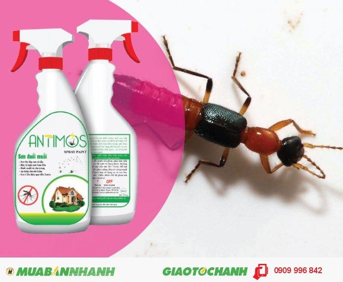 Sơn trong đuổi muỗi Antimos | Quy cách: 600ml | Giá: 200.000đ | Mô tả: Sơn Antimos đuổi được muỗi, côn trùng đặc biệt là kiến ba khoang nhờ các thành phần chính được làm từ thảo dược thiên nhiên như: Tinh dầu sả, bạc hà, lavender. . . được pha trộn vào trong sơn, Các tinh dầu này không thể gây hại cho sức khỏe của bạn., 5