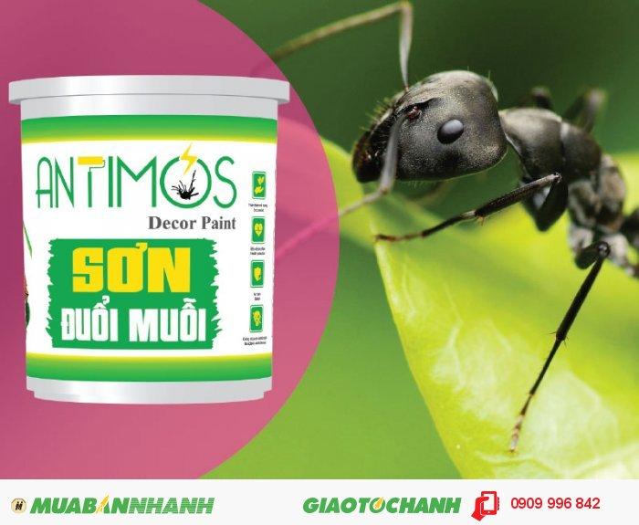 Sơn màu đuổi muỗi Antimos | Quy cách: 1000ml | Giá: 250.000đ | Mô tả: Antimos là một dòng sơn mới, mang tính cách mạng nhờ vào khả năng có thể ngăn được muỗi và các loại côn trùng khác. Bằng việc sử dụng những viên nang Polymer siêu nhỏ sẽ giúp pha trộn dễ dàng các hợp chất đuổi muỗi vào trong sơn và để chúng phản ứng chậm trong suốt quá trình sử dụng. Sơn ngoài khả năng đuổi muỗi còn có tác dụng chống kiến hôi hiệu quả, 5