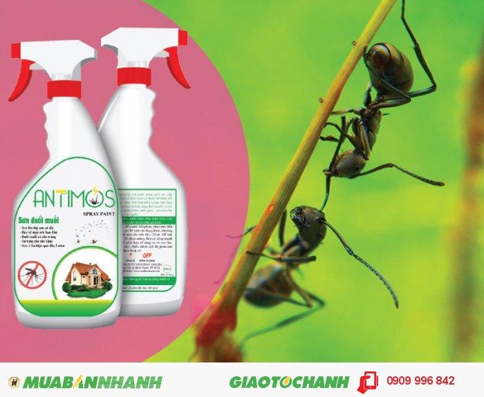 Sơn trong đuổi muỗi Antimos | Quy cách: 600ml | Giá: 200.000đ | Mô tả: Sơn Antimos đuổi được muỗi, kiến đen và côn trùng nhờ các thành phần chính được làm từ thảo dược thiên nhiên như: Tinh dầu sả, bạc hà, lavender. . . được pha trộn vào trong sơn, Các tinh dầu này không thể gây hại cho sức khỏe của bạn., 1