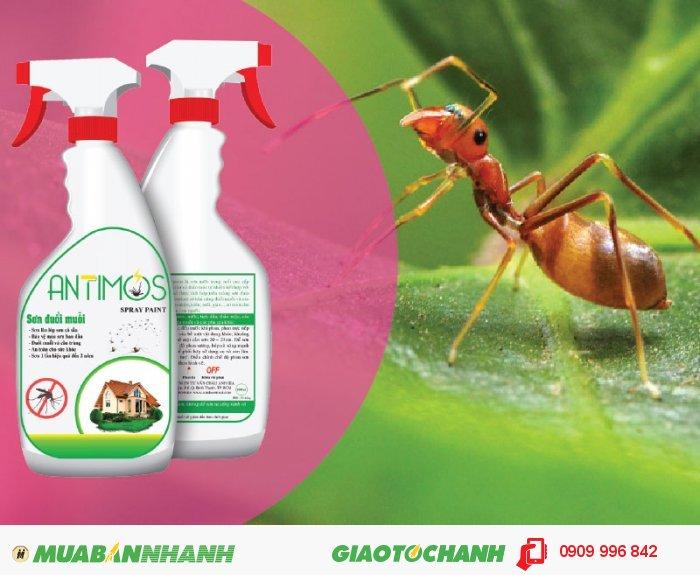 Sơn trong đuổi muỗi Antimos | Quy cách: 600ml | Giá: 200.000đ | Mô tả: Antimos là một dòng sơn mới, mang tính cách mạng nhờ vào khả năng có thể ngăn được muỗi và các loại côn trùng khác, như kiến hôi, kiến đen và kiến lửa... Giúp gia đình bạn không còn lo lắng đối mặt với kiến nữa, 1