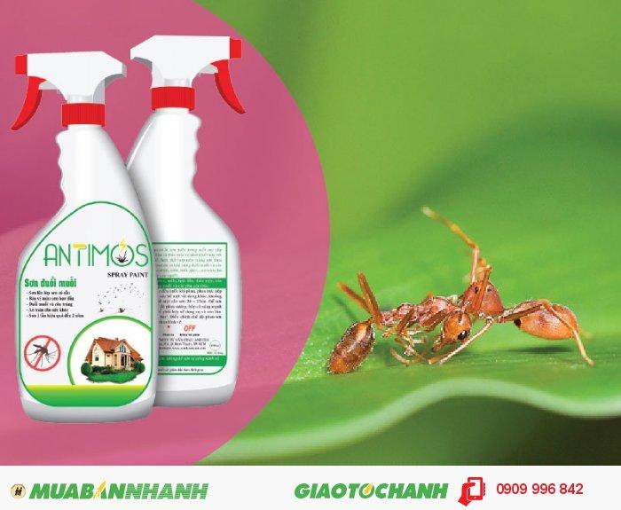 Sơn trong đuổi muỗi Antimos | Quy cách: 600ml | Giá: 200.000đ | Mô tả: Để diệt muỗi, ruồi, gián, kiến, … chúng ta thường dùng thuốc xịt, nhan trừ muỗi, kem chống muỗi, . . . . Tuy nhiên giải pháp này chỉ có hiệu quả trong vài ngày. Đặc biệt các hóa chất này có thể gây nguy hiểm cho sức khỏe gia đình bạn., 3