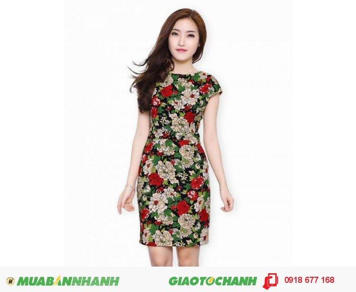 Đầm lady hoa Hải Đường sang trọng ZID300280