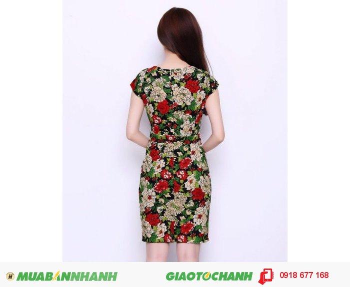 Đầm lady hoa Hải Đường sang trọng ZID300281