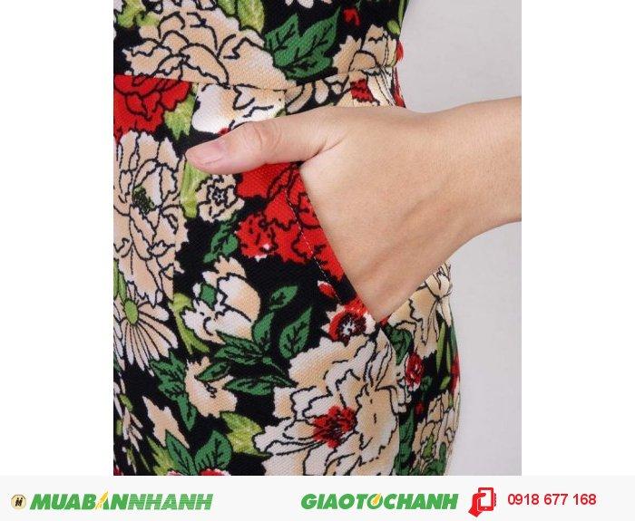 Đầm lady hoa Hải Đường sang trọng ZID300283