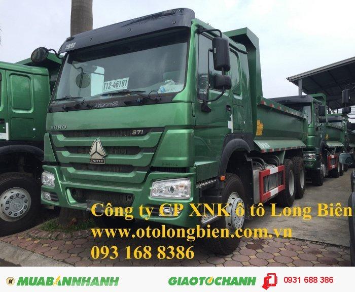 Xe ben 3 chân Howo động cơ 336, 371 tải trọng 12-13 tấn thùng 10m3 tại Hà Nội 2015, 2016