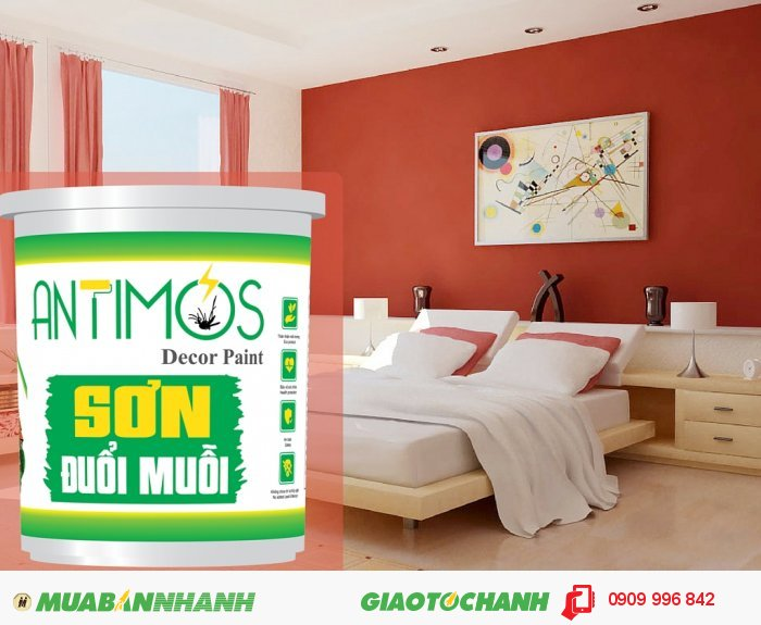 Antimos với hàm lượng chất bay hơi thấp sơn một lần hiệu quả đến 2 năm., 2