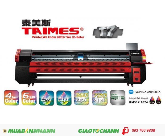 Tốc độ in:  Sản xuất chế độ 240X720dpi 2pass @ 66sqm / h | Bạn cần tư vấn chọn mua máy in kỹ thuật số Taimes, gọi ngay đến Hotline 0937 569 868 - Mr Quang để nhận báo giá máy in quảng cáo Taimes4