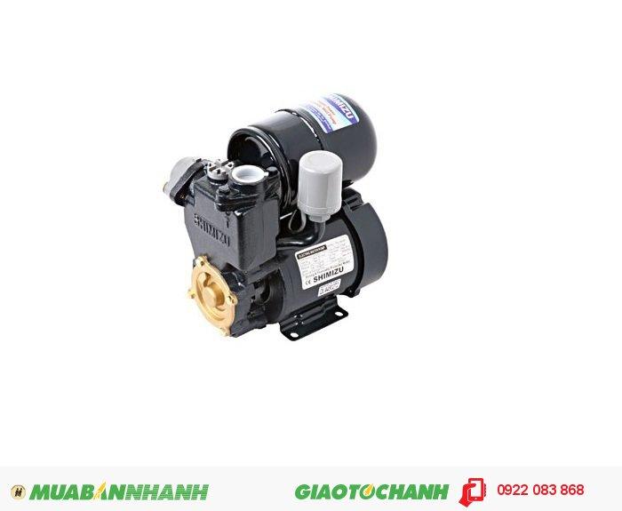 Máy bơm SHIMIZU PS – 230 BIT:Giá: 2.130.000Hãng sản xuất; ShimizuCông suất (W): 240Lưu Lượng ( lít / phút): 60Cột áp ( m ): 40Độ sâu hút ( m): 9Đường kính ống hút/xả ( mm):25/25Áp lực đóng ngắt (kg/cm2): 1.1 - 1.8Nguồn điện: 220V - 50 HzXuất xứ: IndonesiaHút trực tiếp từ đường ống cấp nước, bể chứa để tăng áp lực cho các thiết bị sử trong gia đình như máy giặt, sen, vòi, bình nóng lạnh..., 3