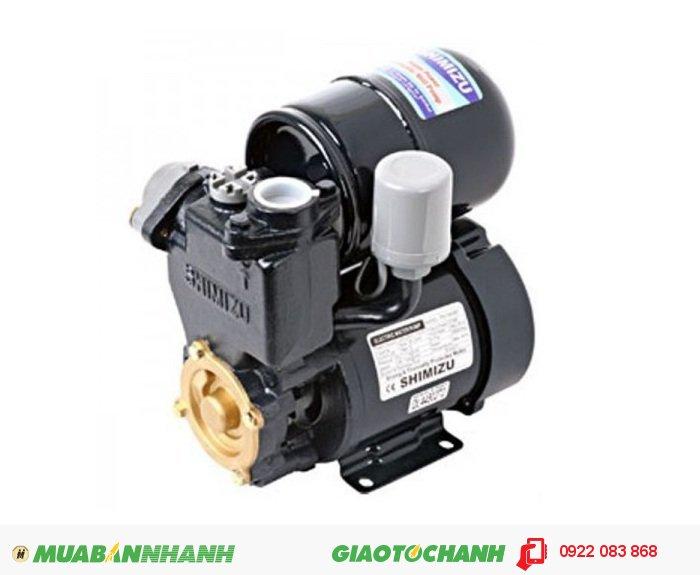 Máy bơm Shimizu PS 128Bit:Giá: 1.000.000Hãng sản xuất; ShimizuCông suất (W): 125Lưu Lượng ( lít / phút): 34Độ cao đẩy ( m ): 33Độ sâu hút ( m): 9Đường kính ống hút( mm); 25Đường kính ống đẩy( mm ): 25Nguồn điện: 220V - 50HzXuất xứ: IndonesiaRơle nhiệt bảo vệ động cơ, 5
