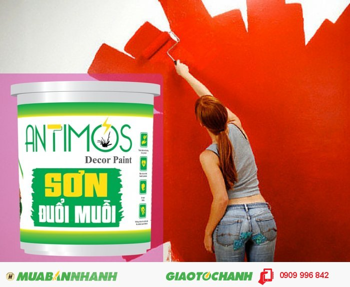 Sơn màu đuổi côn trùng Antimos | Quy cách: 1000ml | Giá: 250.000đ | Mô tả: Bạn có thể sử dụng sơn cho tất cả các phòng và phòng tắm để có thể trừ khử côn trùng một cách hiệu quả., 4