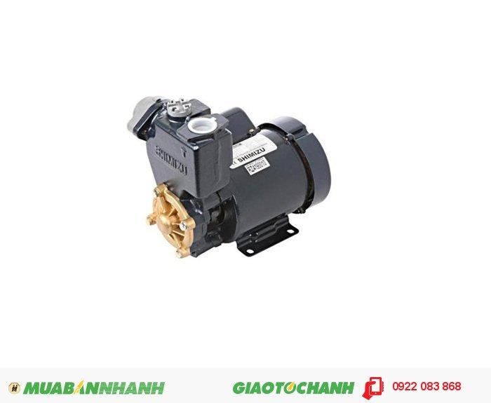Máy bơm nước ao hồ Shimizu PS 130Giá: 1.430.000Công suất: 125 WLưu lượng tối đa: 35 lít/ phútNguồn điện: 220V/1phaĐộ sâu hút tối đa: 9mỐng hút và đẩy: 25mmTổng cột áp tối đa: 40mCông tắc áp lực: 1,1 1,8 kgf/cm3Xuất xứ: IndonesiaDùng để tăng áp lực nước vào các thiết bị: máy giặt, vòi tắm hoa sen và các thiết bị vệ sinh khác. Ngoài ra chúng có thể được dùng trong hút bể, đẩy cao, rửa xe, tăng áp hệ thống cấp nước..., 3