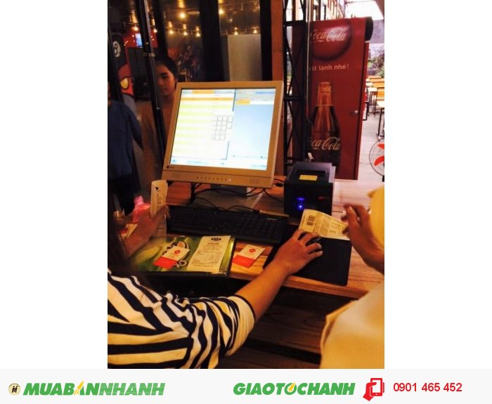 Máy Bán Hàng Cảm ứng Pos giá rẻ cho Quán Cafe tại Hạ Lang Cao Bằng0