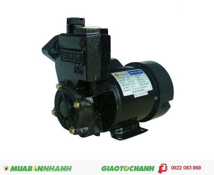 Máy bơm nước 2 đầu Selton SEL-150BE chất lượng, hút bể ngầm, đường ống giếng khoanGiá: 730.000Hãng sản xuất: SeltonCông suất (W): 150Lưu Lượng ( lít / phút): 33Độ cao đẩy ( m ): 30Độ sâu hút ( m): 9Đường kính ống hút( mm): 25Đường kính ống đẩy( mm ): 25Nguồn điện: 220V -50HzXuất xứ: Việt Nam, 5
