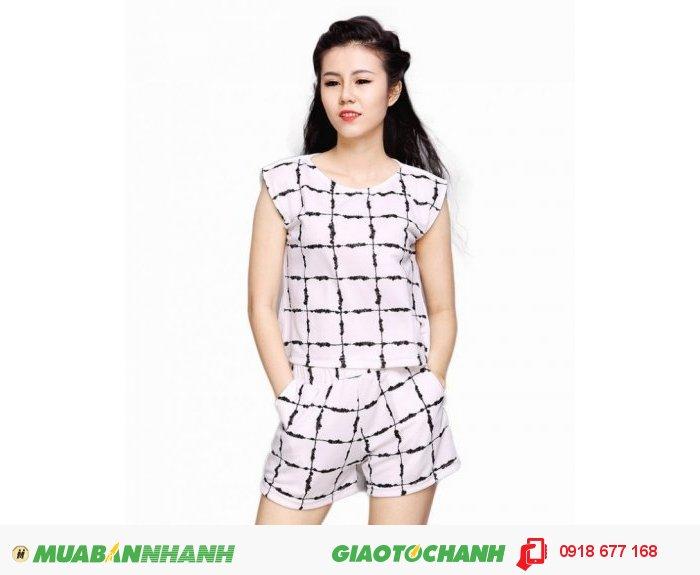 Set áo và quần short in 3D ZID28103