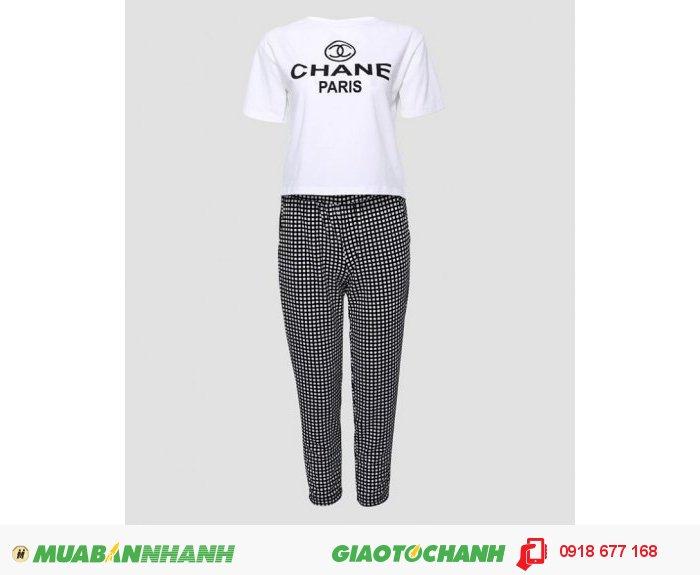 Set áo thun và quần caro Style ZID268712