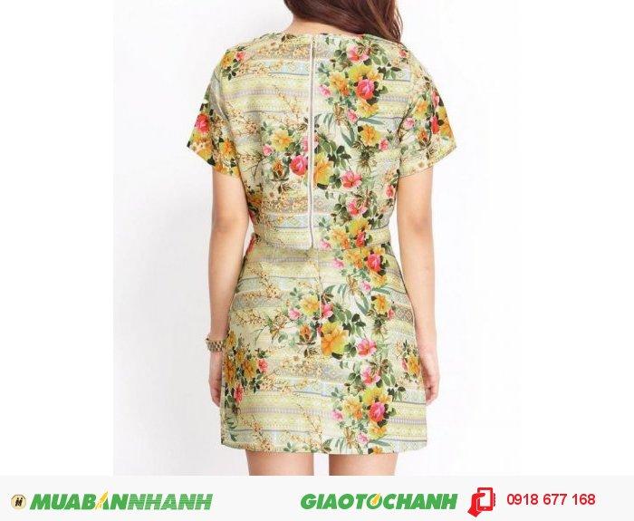 Set áo và chân váy hoa style ZID268151