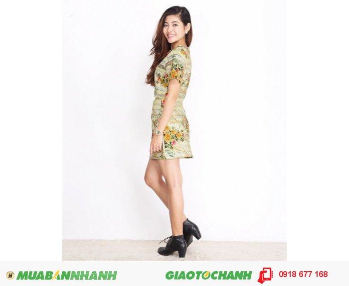 Set áo và chân váy hoa style ZID268153