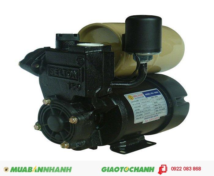 Máy bơm nước dân dụng Selton SEL-150AEGiá: 970.000Là máy bơm nước chân không tích hợp tăng áp tự động, thích hợp sử dụng tăng áp tự động cho thiết bị đầu cuối (sen vòi, máy giặt, bồn bể sục)Vận hành êm, độ ồn thấp.Kết cấu nhỏ gọn, chắc chắn, làm việc tin cậy., 5