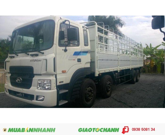 Xe tải HD320 (380PS) 4 chân, tải trọng 18 tấn nhập khẩu 100% từ Hàn Quốc