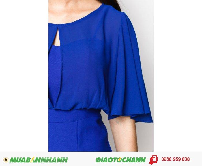 Đầm bèo xẻ trước sau | Mã: AD229-xanh | Giá: 598000 Quy cách: 84-64-88 (+-2): chiều dài tb: 85cm - 90cm | chất liệu: lụa cát| Size (S - M - L - XL) | Mô tả: Thiết kế may tay loe độc đáo chính là điểm nhấn nổi bật của chiếc váy này, những nàng có bắp tay to không còn phải lo lắng nữa., 3
