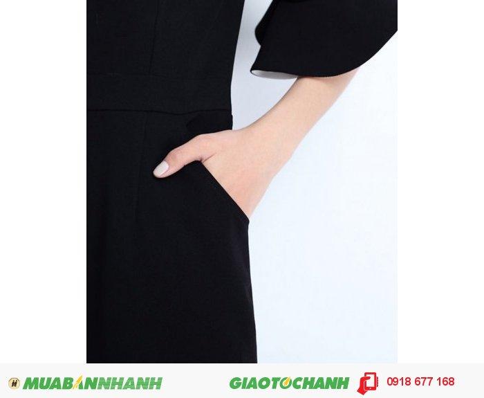 Đầm công sở tay loa kèn ZID140691