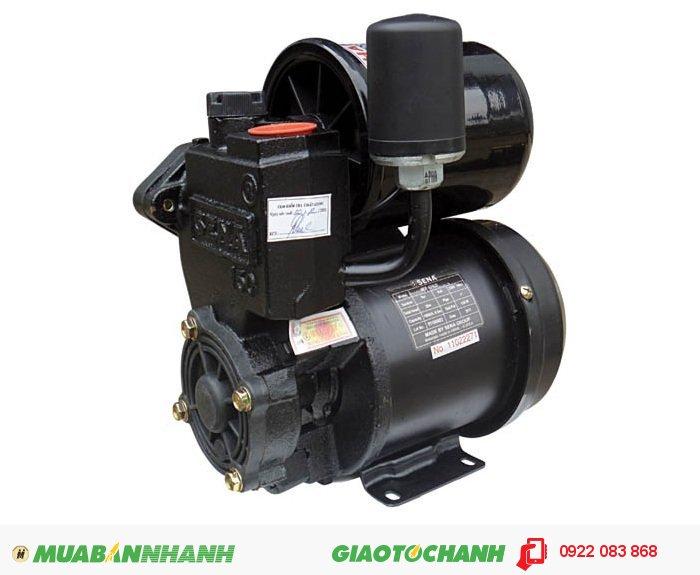 Máy bơm nước 25m3/h Sena SEP 131LD: Sử dụng để tăng áp lực nước cho các thiết bị sử dụng nước trong nhà như Vòi hoa sen, bình nóng lạnh, máy giặt ...Giá: 1.100.000Hãng sản xuất: SenaCông suất (W): 125Độ cao đẩy ( m ): 20Độ sâu hút ( m): 9Đường kính ống hút( mm): 25Đường kính ống đẩy( mm ): 25Loại nhiên liệu: ĐiệnXuất xứ: Việt Nam, 2