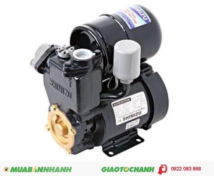 Máy bơm nước 500m3/h Shimizu PS 130BIT:Giá: 1.430.000Loại tự động: 125WCông suất : 125 WLưu lượng tối đa: 35 lít/ phútNguồn điện :220V/1phaĐỘ sâu hút tối đa 9mỐng hút và đẩy25mmTổng cột áp tối đa: 40mCông tắc áp lực :1,1 - 1,8 kgf/ cm3Xuất xứ: Indonesia, 4