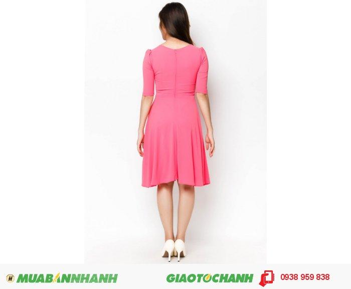 Đầm cổ tròn tay lỡ | Mã: AD228-hồng | Giá 788000 Quy cách: 84-66 (+-2): chiều dài tb: 85cm - 90cm | Chất liệu: lụa cát | Size (S - M - L - XL) | Mô tả: Với những cô nàng yêu thích sự ngọt ngào thì không thể bỏ qua chiếc váy xòa chữ A màu hồng đáng yêu này., 3