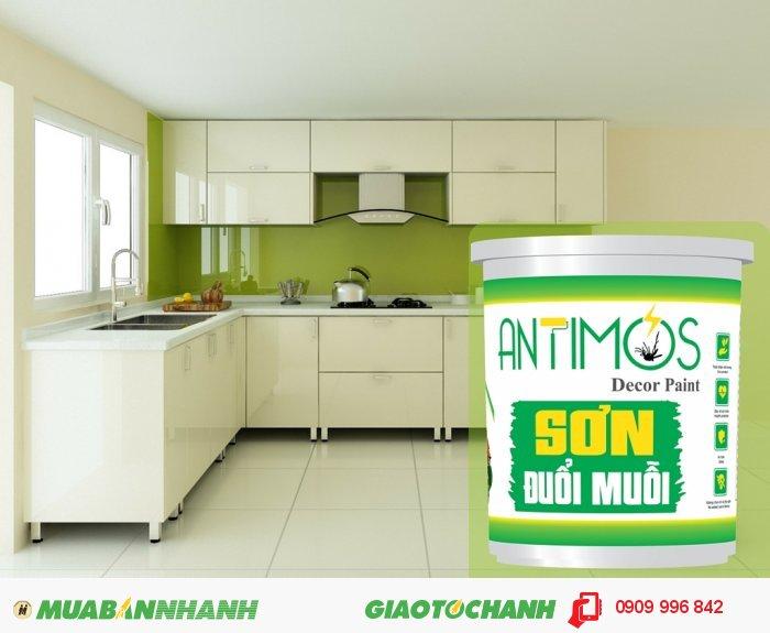 Sơn màu đuổi muỗi Antimos | Quy cách: 1000ml | Giá: 250.000đ | Antimos cũng có thể đươc sử dụng cho những khu vực thường dùng để dự trữ thức ăn., 5
