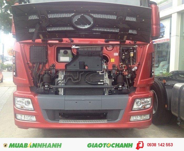 Xe đầu kéo AUMAN 375 máy điện, 375Ps. Tiết kiệm nhiên liệu, hiệu quả kinh tế cao.