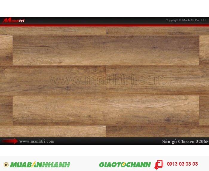Sàn gỗ công nghiệp Classen 32065 | Qui cách: 1286 x 194 x 8mm | Ứng dụng: Thi công lắp đặt làm sàn gỗ nội thất trong nhà, phòng khách, phòng ngủ, phòng ăn, showroom, trung tâm thương mại, shopping, sàn thi đấu. Giá bán: 319.000VND, 4