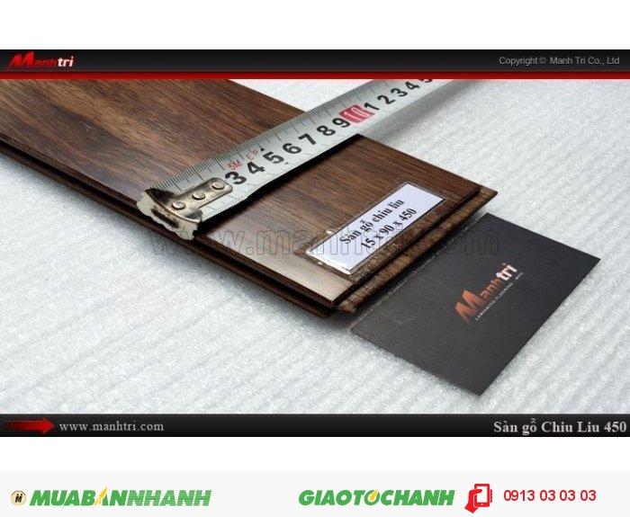 Sàn gỗ tự nhiên Chiu Liu 450mm | Kích thước (L x W x H): 450mm x 90mm x 15mm | Trọng lượng: 15.00kg | Sàn gỗ Chiu liu 450mm có thể chống được mục, không bị mối ăn nên sản phẩm thường được khá nhiều khách hàng lựa chọn trong xây nhà, làm đồ gia dụng, làm sàn gỗ, trụ cầu thang…Giá bán: 800.000VND, 4