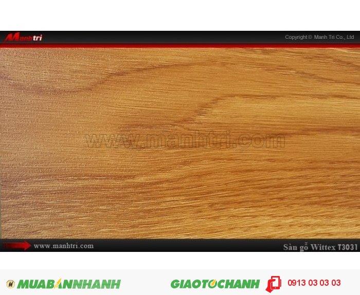 Sàn gỗ công nghiệp Wittex T3031 | Qui cách: 1215 x 195 x 8.3mm | Ứng dụng: Thi công lắp đặt làm sàn gỗ nội thất trong nhà, phòng khách, phòng ngủ, phòng ăn, showroom, trung tâm thương mại, shopping, sàn thi đấu. Giá bán: 149.000VND, 5