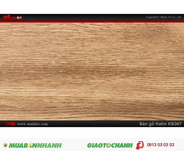 Sàn gỗ công nghiệp Kahn KS367, dày 12.3mm, độ bền cao | Qui cách: 1215 x 166 x 12.3 mm | Chống trầy: AC5 | Ứng dụng: Thi công lắp đặt làm sàn gỗ nội thất trong nhà, phòng khách, phòng ngủ, phòng ăn, showroom, trung tâm thương mại, shopping, sàn thi đấu. Giá bán: 400.000VND, 4
