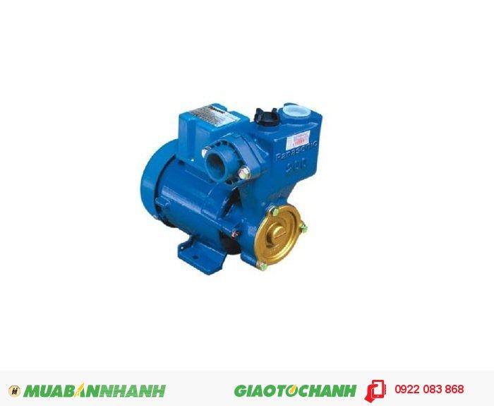 Mua máy bơm nước ở tphcm Panasonic GP-350JA: ứng dụng cho gia đình có nguồn nước yếu hoặc các toà nhà cao từ 2 – 5 tầng, với tính năng đẩy cao, mang lại giá trị kinh tế và thân thiện với môi trường.Giá: 2.780.000Công suất (W): 350Điện thế: 220V / 50Hz, 3
