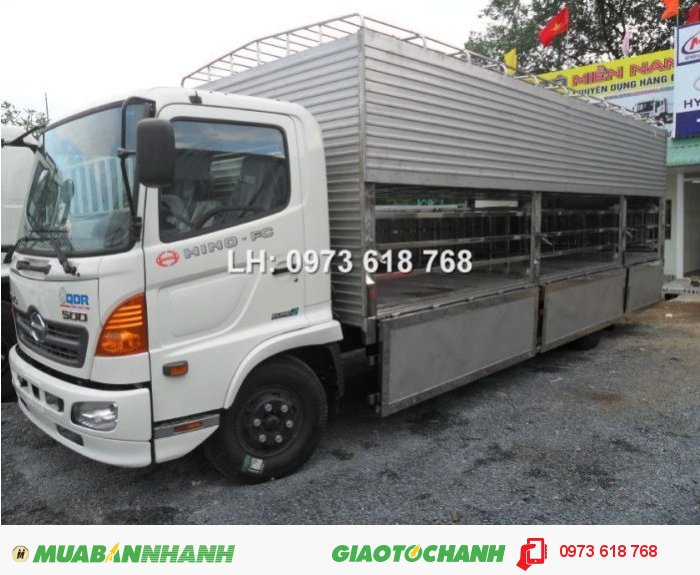 Tổng Đại lý Xe tải  Hino bán xe Hino FG chở Heo 9t4 3