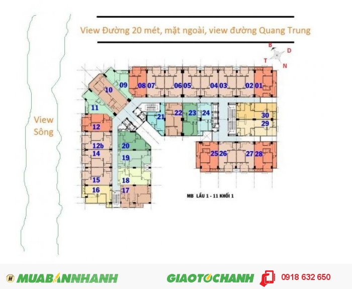 Cho thuê căn hộ chung cư Khang Gia 6 triệu 76m2