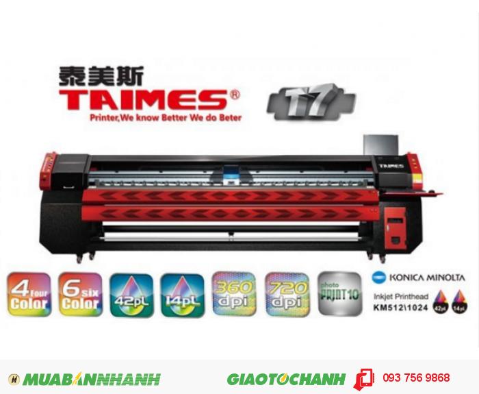 Máy in kỹ thuật số khổ rộng TAIMES T7 | Mô tả: Khổ in: 3200mm (10.5ft). Độ phân...