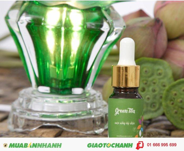 Tinh dầu Green Tea (Trà Xanh) | Mã sản phẩm: TD21010C | Giá bán: 235.000 | Dung tích: 10ml | Mô tả: Ngoài ra, tinh dầu còn đem lại cảm giác thư thái. Tinh dầu nguyên chất cây trà được sử dụng rộng rãi trong việc điều trị nấm hay sự lây nhiễm do nhiễm trùng., 2