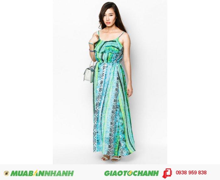 Đầm maxi 2 dây | Mã: AD225-xanh| Giá: 488000 Quy cách: 84-66-90 (+-2): chiều dài tb: 85cm - 90cm | chiffon lạnh | Size (M) | Mô tả: Thiết kế hai dây thoáng mát cùng họa tiết cách điệu độc đáo góp phần tô thêm nét đáng yêu cho bạn gái., 3