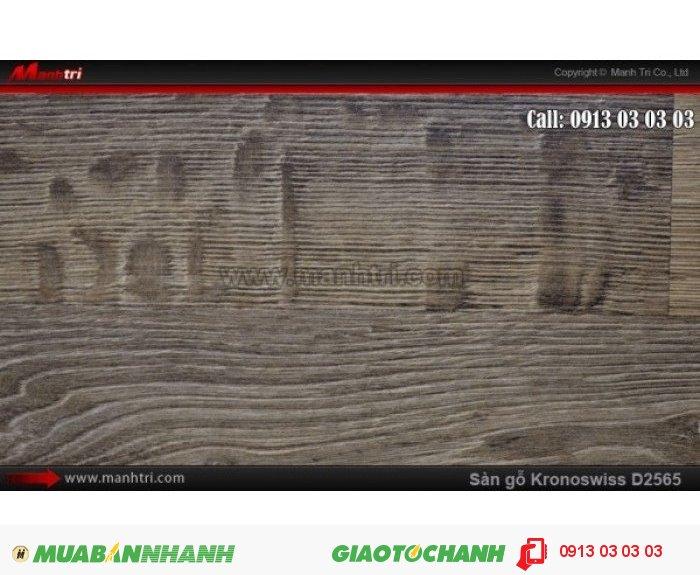 Sàn gỗ công nghiệp Kronoswiss D2565, dày 8mm; Qui cách: 1380 x 193 x 8mm; Ứng dụng: Thi công lắp đặt làm sàn gỗ nội thất trong nhà, phòng khách, phòng ngủ, phòng ăn, showroom, trung tâm thương mại, shopping, sàn thi đấu. Giá bán: 309.000VND, 5