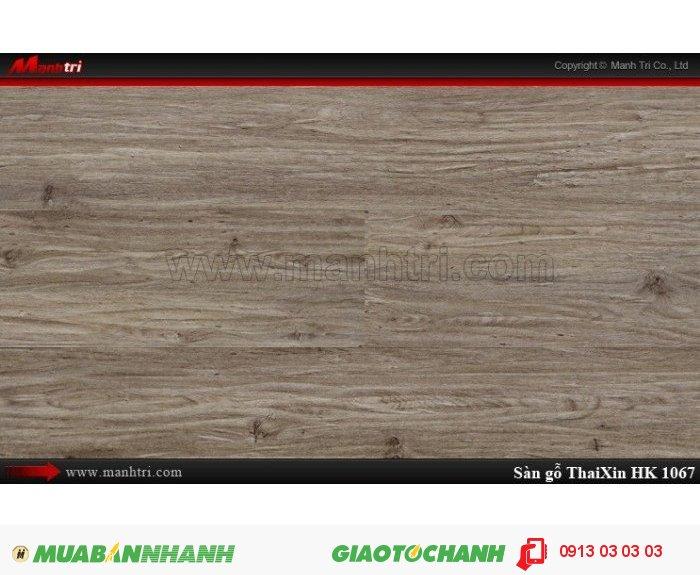 Sàn gỗ công nghiệp Thaixin MF1067 (bản nhỏ), dày 8.3mm, chống cháy chồng trầy, chịu nước; Qui cách: 1205 x 192 x 8.3 mm; Chống trầy: AC4; Ứng dụng: Thi công lắp đặt làm sàn gỗ nội thất trong nhà, phòng khách, phòng ngủ, phòng ăn, showroom, trung tâm thương mại, shopping, sàn thi đấu. Giá bán: 229.000VND, 5
