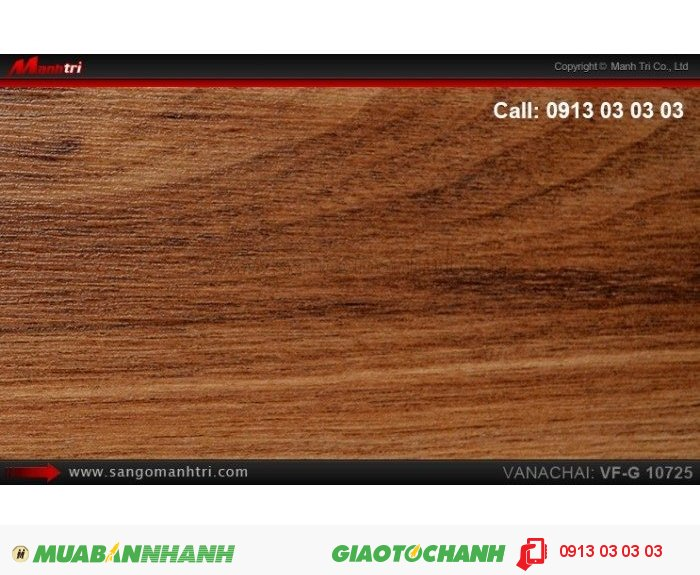 Sàn gỗ công nghiệp Vanachai VFG10725, dày 12mm, độ bền cao | Qui cách: 1025 x 125 x 12mm | Xuất xứ hàng hóa: Sản xuất tại THÁI LAN | Ứng dụng: Thi công lắp đặt làm sàn gỗ nội thất trong nhà, phòng khách, phòng ngủ, phòng ăn, showroom, trung tâm thương mại, shopping, sàn thi đấu. Giá bán: 375.000VND, 1