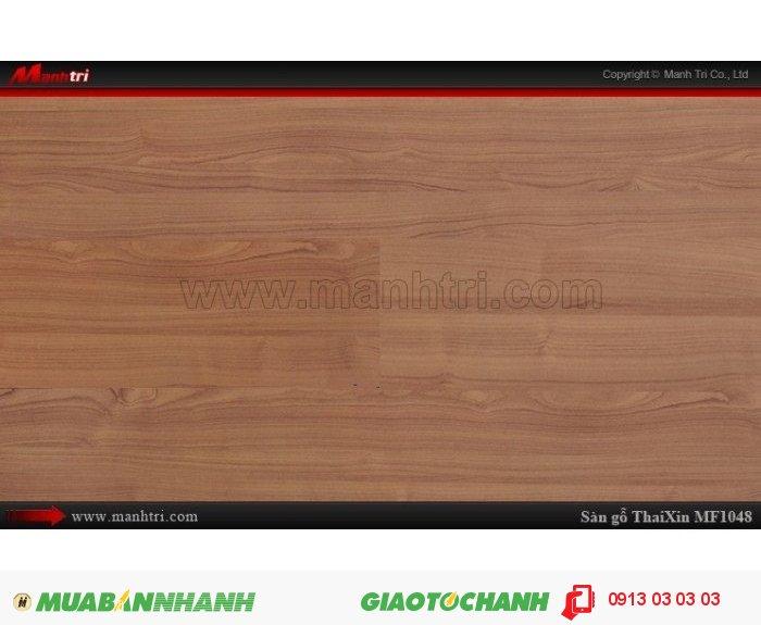 Sàn gỗ công nghiệp Thaixin MF1048, dày 8.3mm, chống cháy chồng trầy, chịu nước | Qui cách: 1205 x 192 x 8,3 mm | Chống trầy: AC4 | Ứng dụng: Thi công lắp đặt làm sàn gỗ nội thất trong nhà, phòng khách, phòng ngủ, phòng ăn, showroom, trung tâm thương mại, shopping, sàn thi đấu. Giá bán: 229.000VND, 1