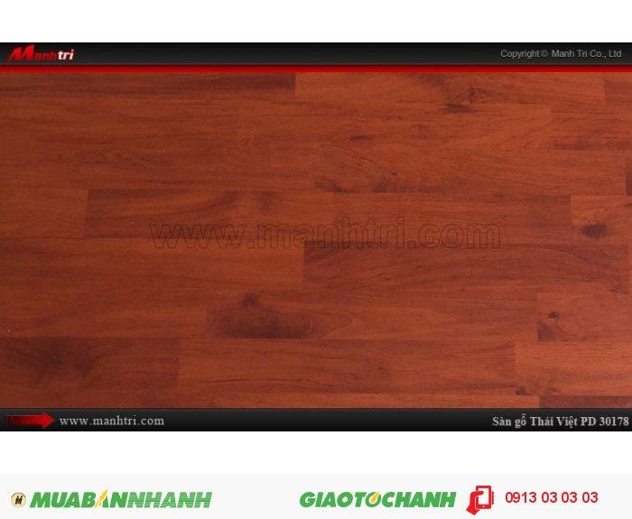 Sàn gỗ công nghiệp Thái Việt PD30178, sàn gỗ Thái Lan chịu nước | Xuất xứ: Thái Lan | Quy cách: 1205 x 192 x 8mm | Chống trầy AC4. Ứng dụng: Thi công lắp đặt làm sàn gỗ nội thất trong nhà, phòng khách, phòng ngủ, phòng ăn, showroom, trung tâm thương mại, shopping, sàn thi đấu. Giá bán: 229,000 VNĐ/M2, 2